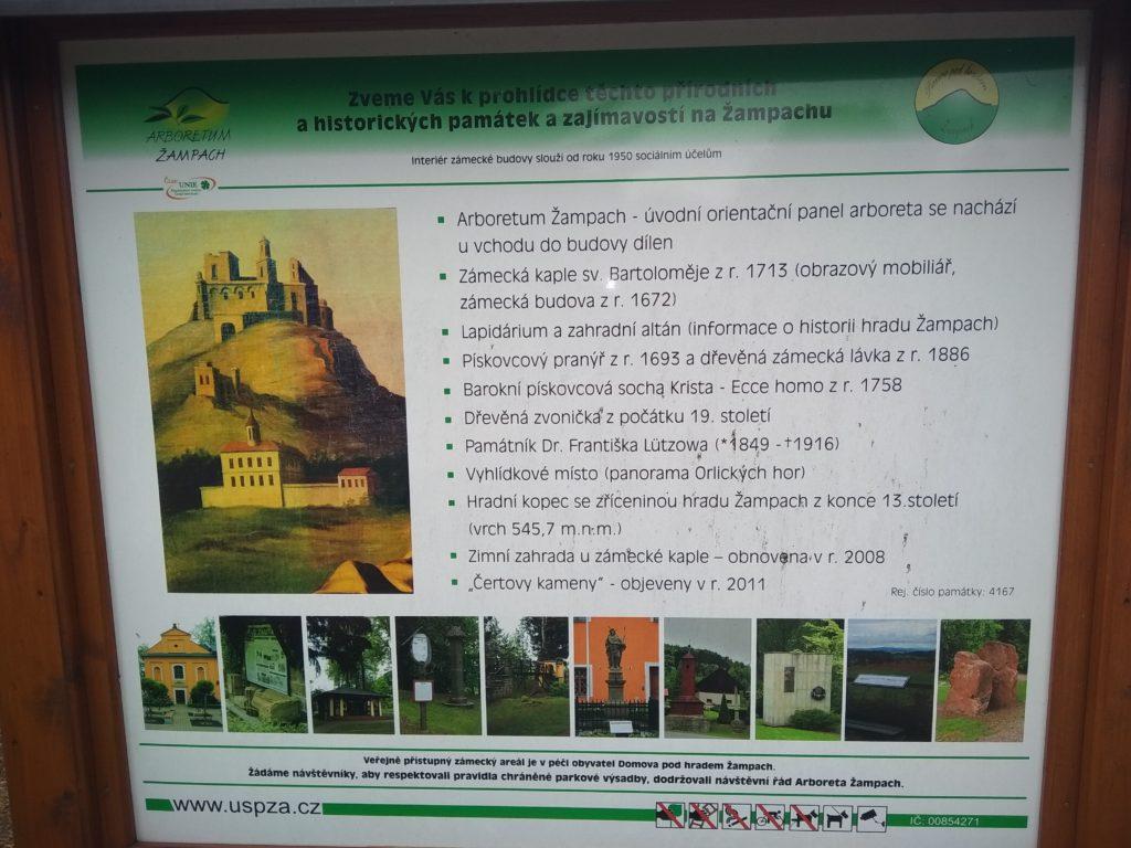 o hradu Žampach