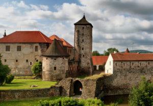 Pohled na hrad z mlýna