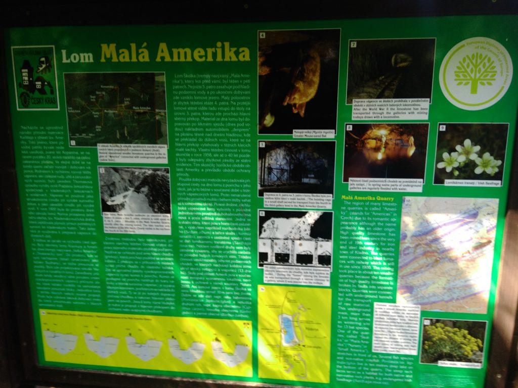 Informační tabule Lom Malá Amerika