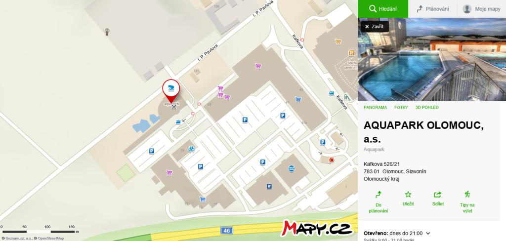 koupání Aquapark Olomouc