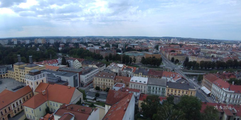 Výhled z Bílé věže v Hradci Králové